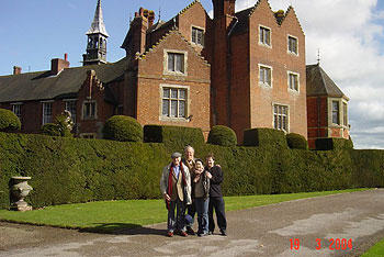 At Madresfield Court, Worcestershire – Moray, Hugh, Mai, Christopher.