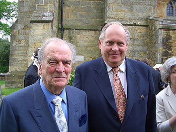 Moray and Hugh at the wedding of Christopher and Mai in Sussex, May 2004.