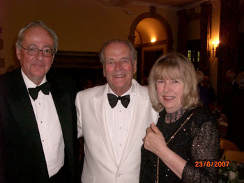 Having covered himself with glory, Moray attends the post-performance dinner at  Barrington with Charlotte Bingham and Terence Brady.